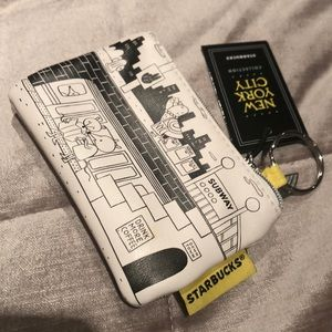 STARBUCKS NYC Keychain Pouch NWTS